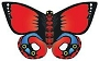 70503 RED BUTTERFLY NYLON KITE