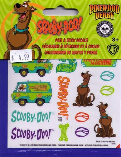 9407 SCOOBY-DOO STICKER DECALS
