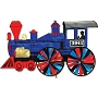 25653 STEAM ENGINE WHIRLIGIG
